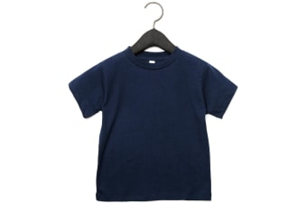 Bella + Canvas Toddler Jersey Short Sleeve T-Shirt (Navy) (2 Years)