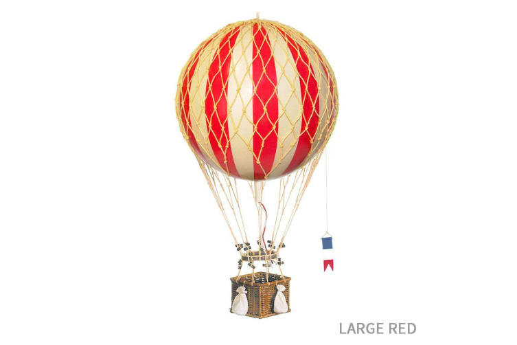 Ornamental Vintage Hot Air Balloons - Large Red