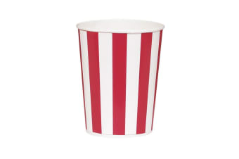 Unique Party Popcorn Buckets (Pack Of 4) (Red/White) (One Size)