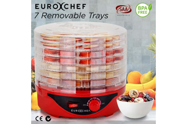 Red 7 Trays Electric Food Dehydrator - EUC-DH-7RD