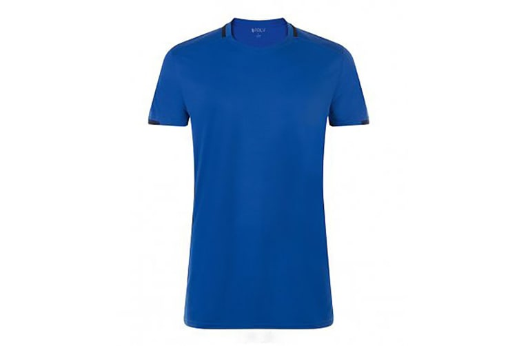 SOLS Mens Classico Contrast Short Sleeve Football T-Shirt (Royal Blue/French Navy) (S)