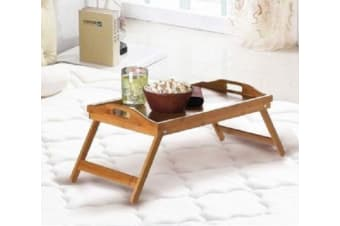 Serving Tray Tea Coffee Table Wooden Breakfast in Bed Foldable Legs