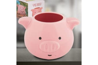 Cute Piggy Mug | Pig Animal Face Coffee Tea Cup Pink