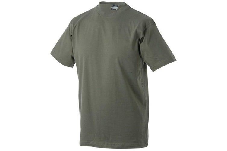 James and Nicholson Unisex Heavy Round Tee (Olive Green) (5XL)