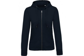 Kariban Womens/Ladies Organic Zip Hoodie (Navy) (XS)