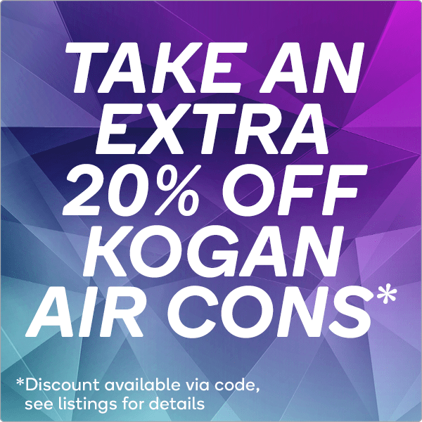 Extra 20% OFF Kogan Air Cons with Code FRENZAIR