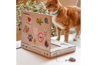 Cardboard Cat Scratching Pad Laptop | Suck UK