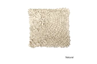 Lester Loop Applique Cushion Cover Natural by IDC Homewares