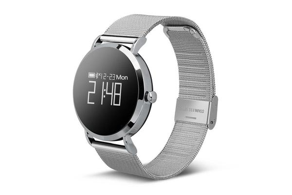 """TODO Bluetooth V4.0 Smart Watch Heart Rate Blood Oxygen 0.95"""" Oled Ip67 - Metal Black"""