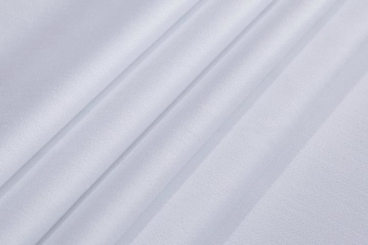 Gioia Casa 400TC Bamboo Cotton Fitted Sheet Combo (White, King)