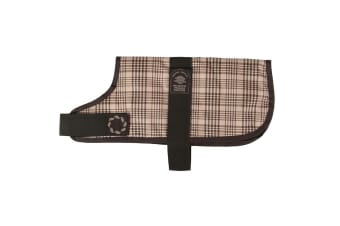 The Animate Company Outhwaites Padded Waterproof Dog Coat (Brown Check)