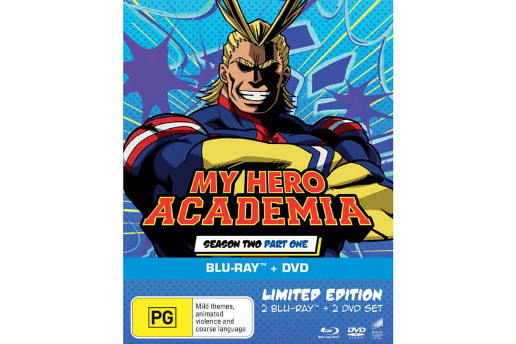 My Hero Academia Season 2 Part One with DVD Double Play Blu-ray Region 4