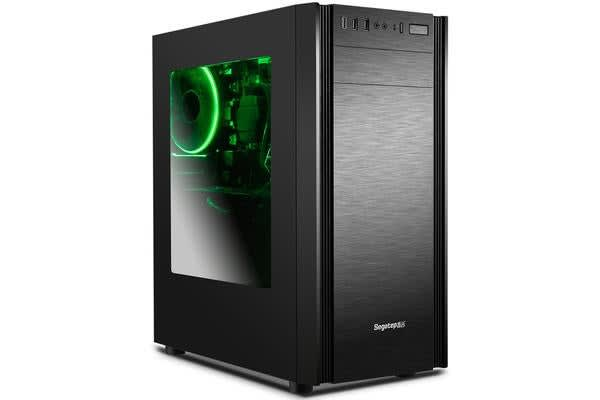 Segotep Wider X1 ATX Mid-Tower Case with Rear 12CM Fan (No PSU) - Black - Front USB 3.0/2.0  & HD