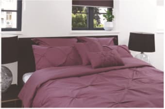 Royal Comfort 7pcs Pleat Comforter Set -double Truffle