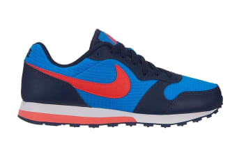Nike MD Runner 2 (Blue/Bright Crimson, Size 7Y US)