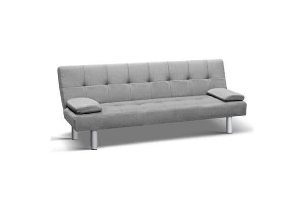 3seater Fabric Sofa Bed (Grey)
