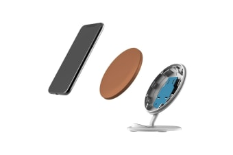 QI Wireless Charger For iPhone XR XS MAX Samsung Galaxy S10 S10+ S10e  Brown
