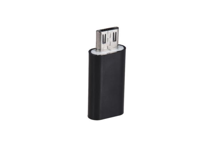 Android Type-C USB-C Female to Micro USB Male Sync Data Converter Charging Adapter-black