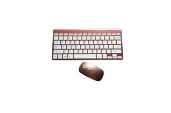 Wireless Compact Portable Mini Keyboard And Mouse Combo Set - Rose Gold Gold