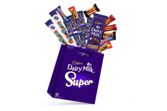 19x Cadbury Superbag Kids Showbag w/Boost/Picnic/Cherry Ripe/Crunchi/Curly Wurly