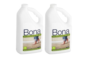 2PK Bona 2.5L Stone Tile/Laminate Refill Maintenance for Floor Surface Cleaning