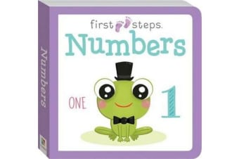 First Steps Large Board Book - Numbers