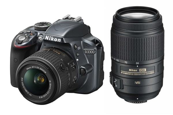 Nikon D3300 DSLR Camera 18-55mm VR II & 55-300mm VR Twin Lens Kit