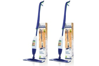 2PK Bona Spray Mop w/ Microfiber Cleaning Pad/850ml Wood Floor Cleaner Cartridge