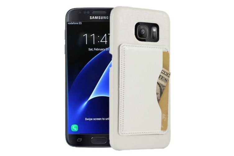 new concept 18c25 4bab2 For Samsung Galaxy S7 EDGE Wallet Case Modern Shell Shielding Cover White