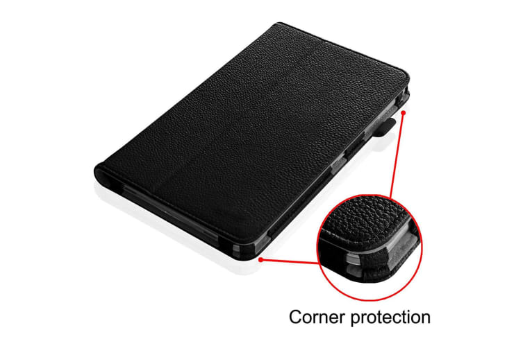 """Samsung Galaxy Tab A 7.0"""" Folio Flip PU Leather Stand Case Smart Cover by MEZON (SM-T280, T285, Black) – FREE EXPRESS"""