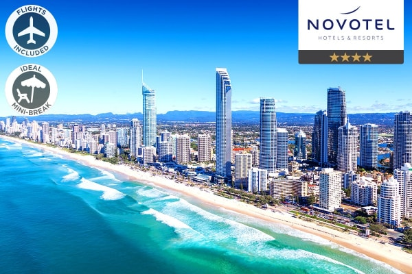 GOLD COAST: 5 Nights at Novotel Surfers Paradise Including Flights For Two (Departing SYD)