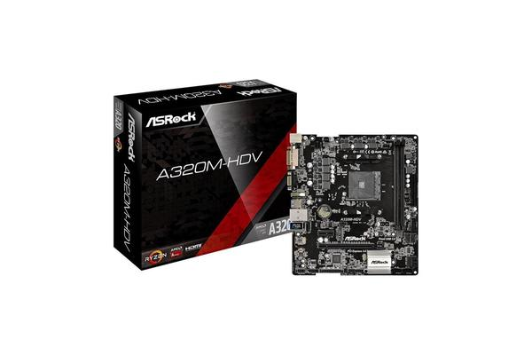 ASRock A320M-HDV mATX motherboard AMD Promontory A320 chipset