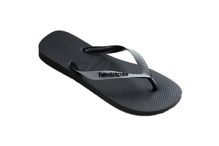 Havaianas Top Mix Thongs (Black/Steel Grey/Black, Size 37/38 BR)