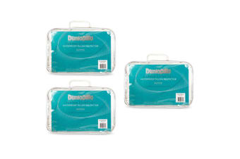 3x Dunlopillo Supima Comfort Waterproof Cushion Pillow Bedding Protector/Case WH