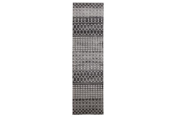 Simplicity Black Transitional Rug 500x80cm