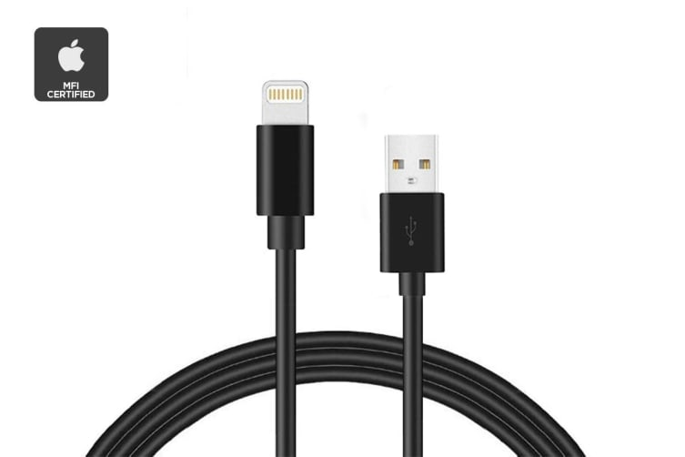 Apple MFI Certified Black Lightning to USB Cable (1m)