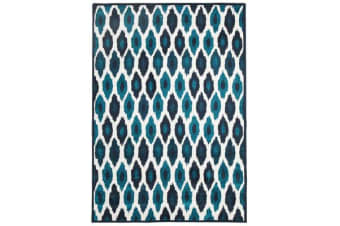 Indoor Outdoor York Rug Blue Navy