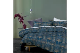 Goldie Indigo Quilt Cover Set by Big Sleep