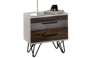 Shelby Bedside Table with 2 Drawers