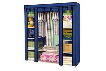 Large Portable Clothes Closet with Shelves vy Blue