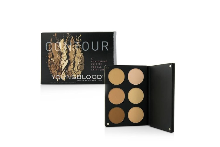 Youngblood Contour Palette For All Skin Tones (3x Highlight Shades, 3x Contouring Shades) 15g