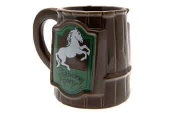 The Lord Of The Rings Prancing Pony 3D Mug (Brown) (One Size)