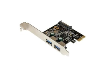StarTech PEXUSB3S23 2 Port PCIe USB 3.0 Card w/ SATA Power