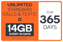 Kogan Mobile Prepaid Voucher Code: EXTRA LARGE (365 Days | 14GB Per 30 Days)