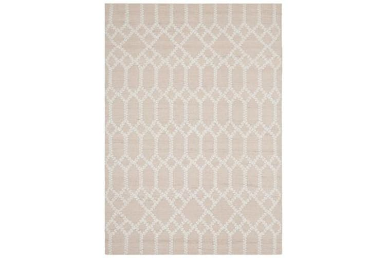 Ryder Nude & Natural White Upcycled Textured Rug 320x230cm