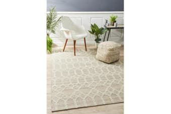 Ryder Beige & Grey Upcycled Textured Rug