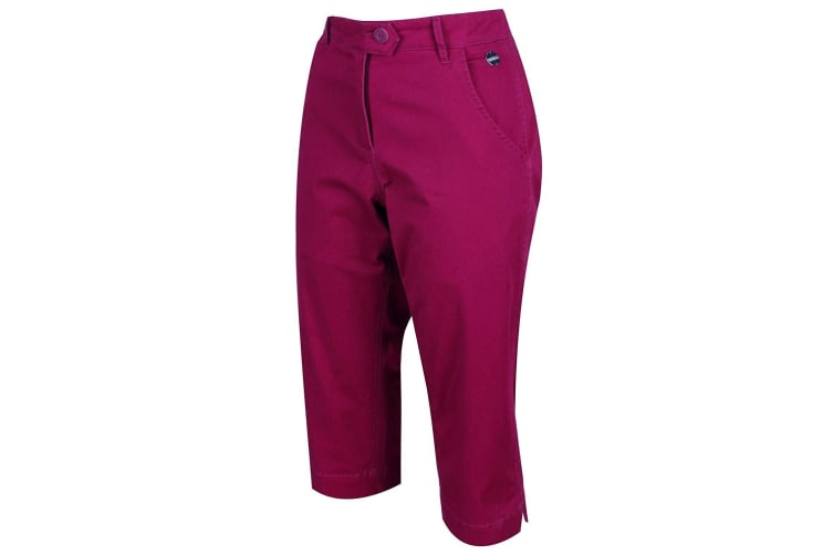 Regatta Womens/Ladies Maleena II Casual Capri Trousers (Beaujolais) (14 UK)