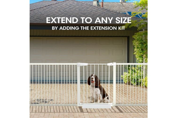 70-142cm Adjustable Wide Baby Kids Pet Safety Security Gate Stair Barrier Doors