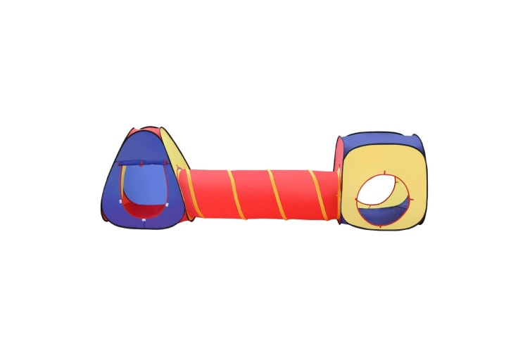 3PCS Cubby-Tunnel-Teepee Playhouse Children Play Tent Toddler Crawl Tunnel