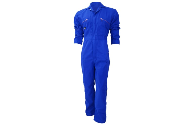 Dickies Redhawk Zip Front Coverall Tall / Mens Workwear (Pack of 2) (Royal) (50W x Long)
